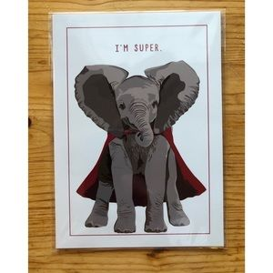 """I'm Super"" Elephant Art Print (5 in. by 7 in.)"